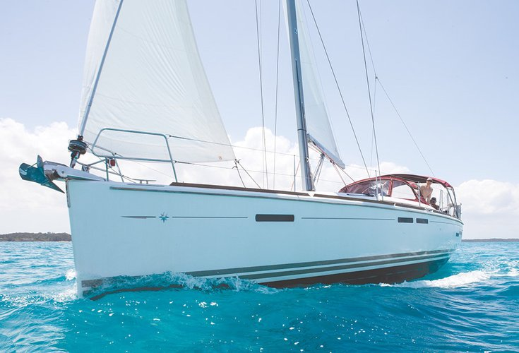 Hop aboard this amazing 43 ft sail boat rental in Florida