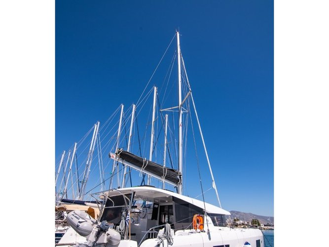 Sail the beautiful waters of Paros on this cozy Lagoon Lagoon 42