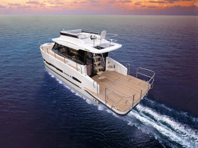 Charter this amazing Cobra Yachts Futura 40 Grand Horizon in Wilkasy, PL