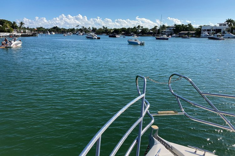 Boating is fun with a Express cruiser in Key Biscayne