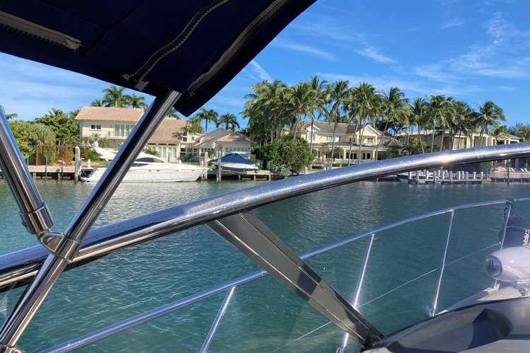 Express cruiser boat rental in Rickenbacker Marina, FL