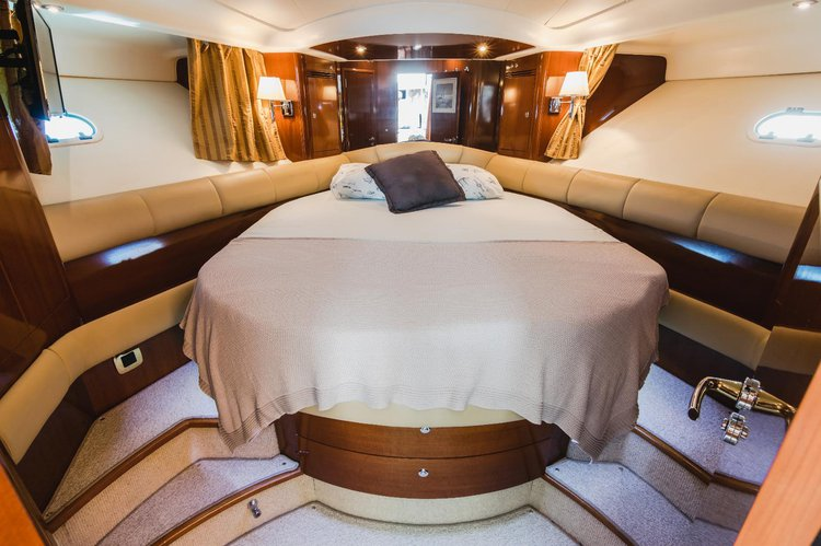 Discover Split surroundings on this Prestige 46 Jeanneau boat
