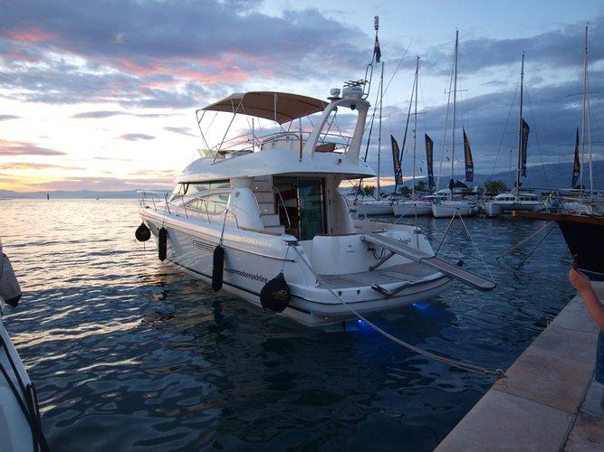 Motor yacht boat rental in ACI Marina Split, Croatia