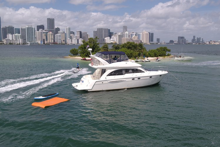 Discover Miami surroundings on this Meridian Yachts 411 Sedan Sea Ray boat