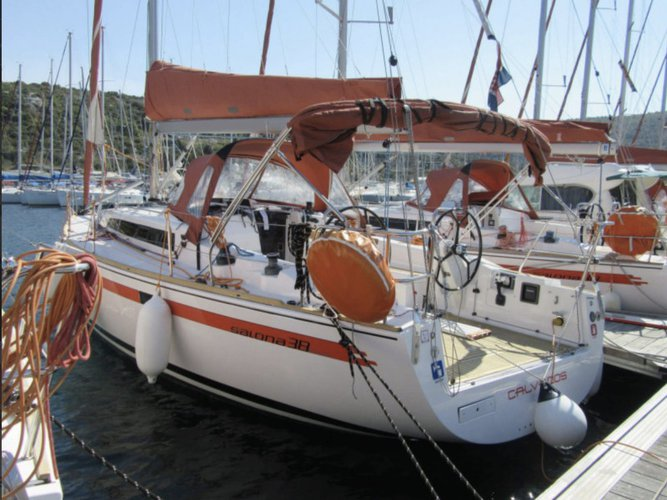 Sail the beautiful waters of Izola on this cozy AD Boats Salona 38