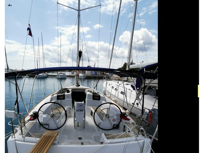 Climb aboard this Jeanneau Sun Odyssey 389 for an unforgettable experience