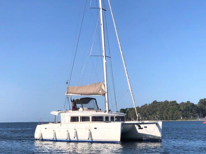 Sail Lefkada, GR waters on a beautiful Lagoon Lagoon 450