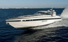 Rustic & Elegant - The Large Mangusta Yacht in Miami