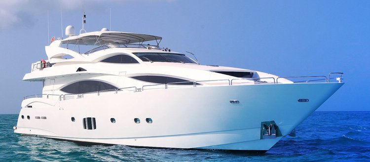 Enjoy luxury and comfort on this beautiful 105' Sunseeker in Miami