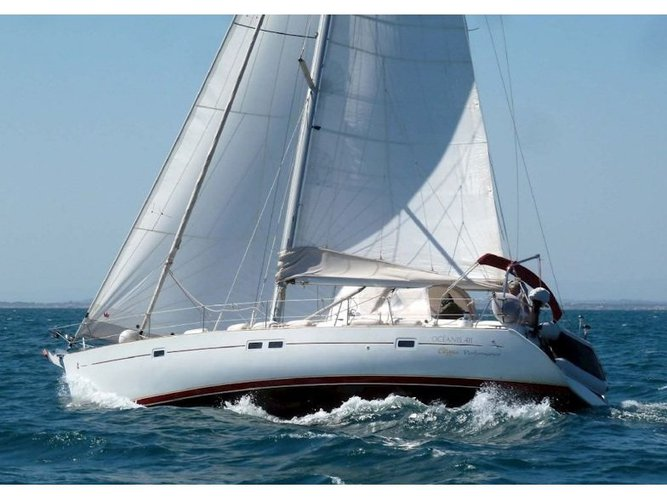 Climb aboard this Beneteau Oceanis 411 for an unforgettable experience