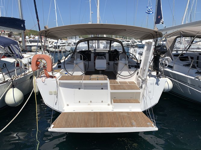 All you need to do is relax and have fun aboard the Dufour Yachts Dufour 460 Grand Large (5 cab)