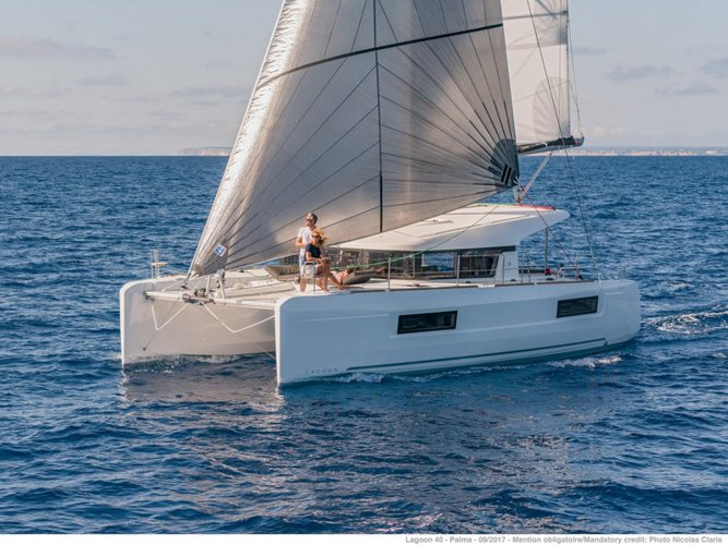 Get on the water and enjoy Salerno in style on our Lagoon Lagoon 40