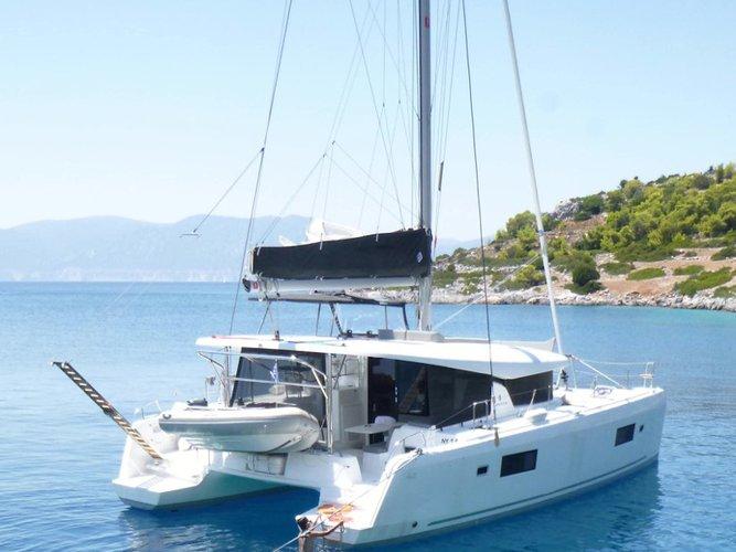 Sail Athens, GR waters on a beautiful Lagoon Lagoon 42