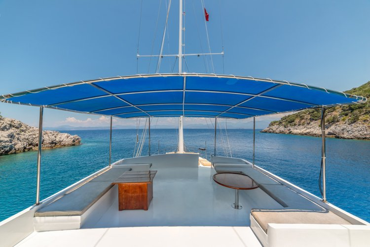 Discover Fethiye surroundings on this CUSTOM GULET WOODEN boat