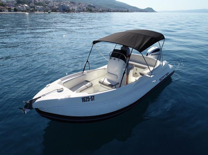 Enjoy luxury and comfort on this Podstrana motor boat charter