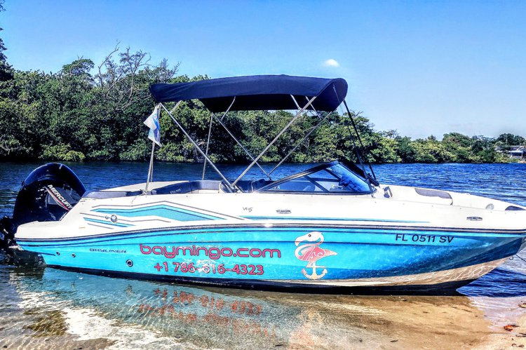 Discover Dania Beach surroundings on this VR5 Bayliner boat