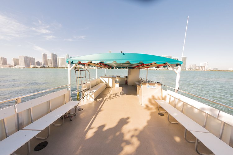 Up to 39 persons can enjoy a ride on this Catamaran boat