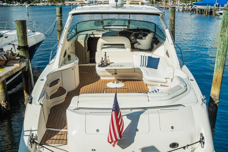 Discover Sunny Isles surroundings on this Sundancer Sea Ray boat