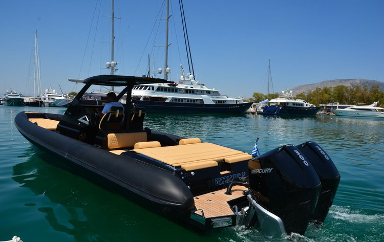 Rigid inflatable boat rental in Agios Kosmas Marina, Greece