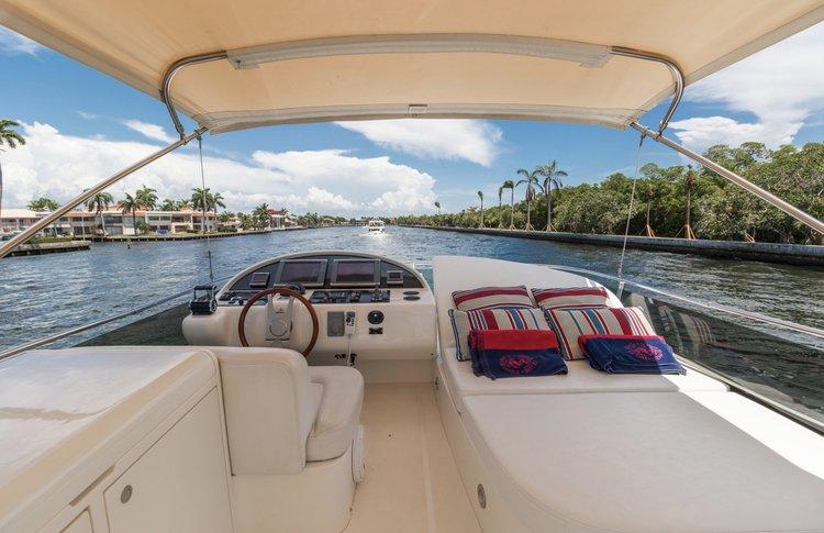 Flybridge boat rental in Miami Beach, FL