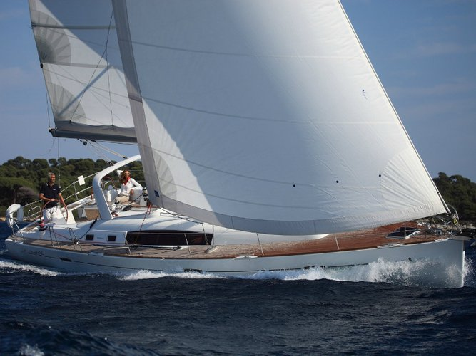 Explore Palairos on this beautiful sailboat for rent