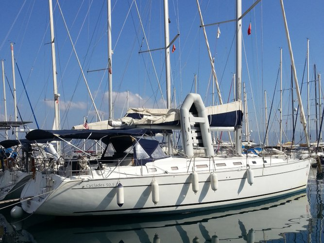Relax on board our sailboat charter in Skiathos