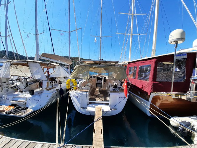 Sail Fethiye, TR waters on a beautiful Dufour Yachts Dufour 405 Grand Large