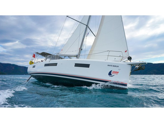 Take this Jeanneau Sun Odyssey 440 - 3 Cabins for a spin!
