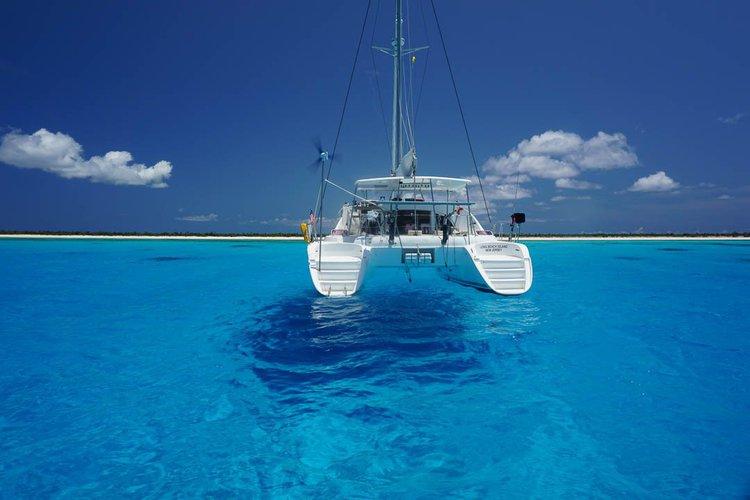 Catamaran boat rental in Puerto Aventuras Marina, Mexico