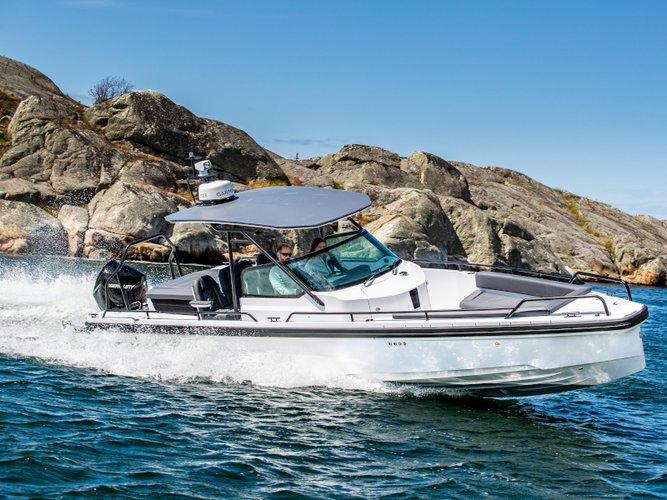 Cruise Skiathos, GR waters on a beautiful Axopar Boats Axopar 28 T-Top