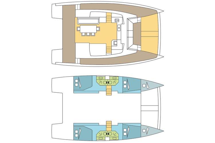 Boat for rent Bali 43.0 feet in Compass Point marina, U.S. Virgin Islands
