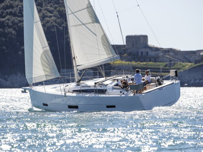 Rent this Dufour Yachts Dufour 430 Grand Large for a true nautical adventure