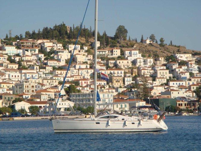 Sail Piraeus, GR waters on a beautiful Jeanneau Sun Odyssey 49DS