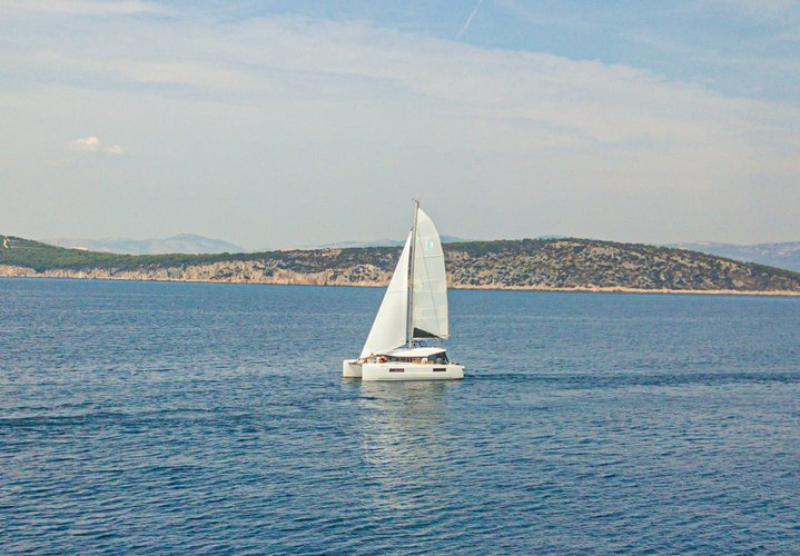 Explore Split on this beautiful sailboat for rent