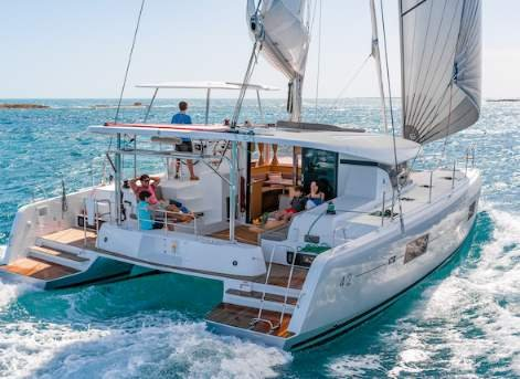Hop aboard this wonderful catamaran charter in Bahamas