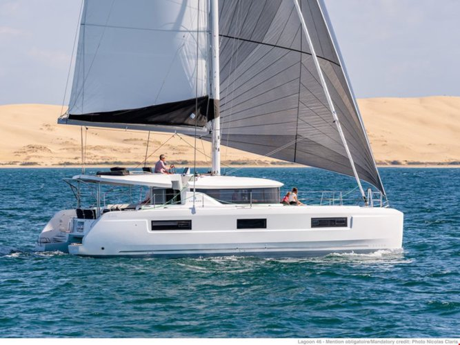 Get on the water and enjoy Patra  in style on our Lagoon Lagoon 46