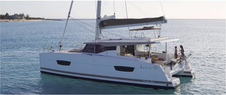 Boat for rent Lucia 40 O.V. with AC LADY K_DB 40.0 feet in Compass Point marina, U.S. Virgin Islands