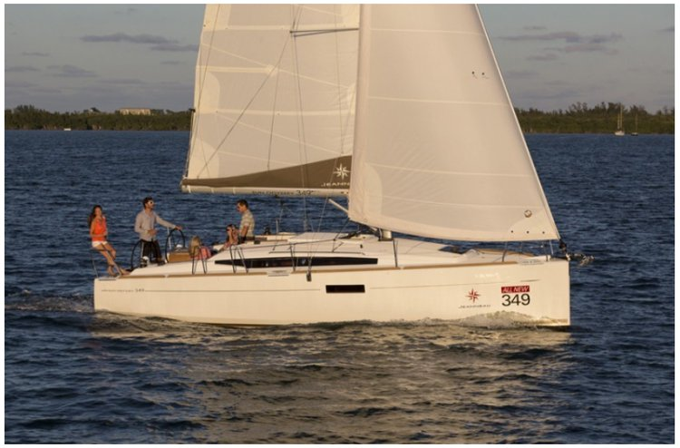 Monohull boat rental in Compass Point marina, U.S. Virgin Islands