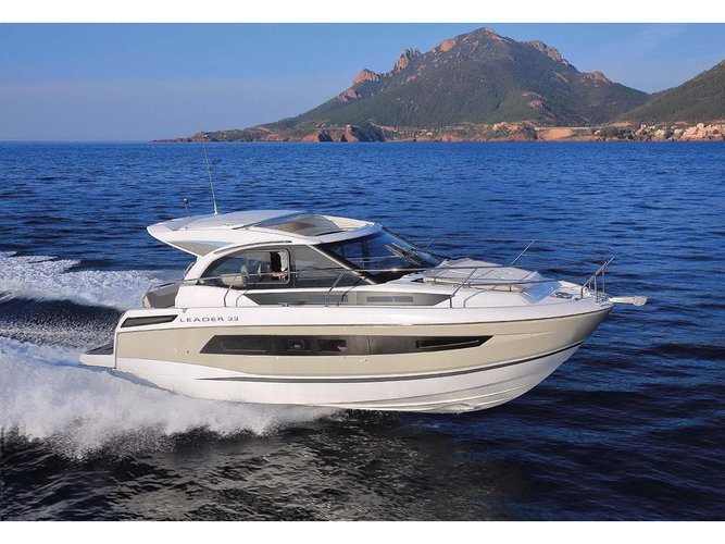 Jump aboard this beautiful Jeanneau Leader 33