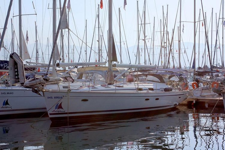 Sail the beautiful waters of Aegean on this cozy Bavaria Yachtbau Bavaria 50 Cruiser
