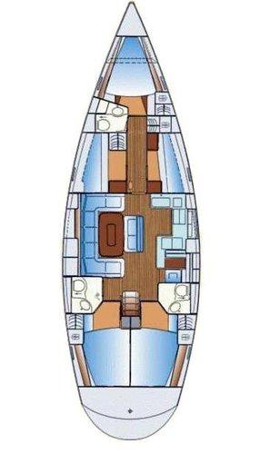 This 51.0' Bavaria Yachtbau cand take up to 10 passengers around Aegean