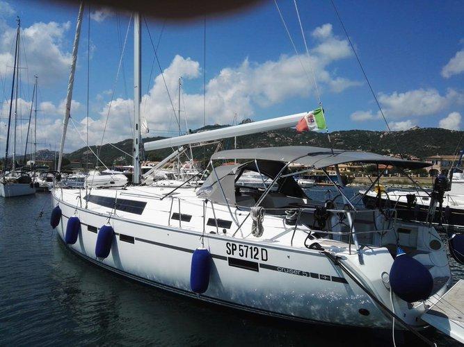 Sail the beautiful waters of Sardinia on this cozy Bavaria Yachtbau Bavaria Cruiser 51