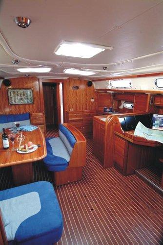 This 51.0' Bavaria Yachtbau cand take up to 10 passengers around Saronic Gulf