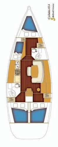 Boat for rent Bénéteau 43.0 feet in Split region, Croatia