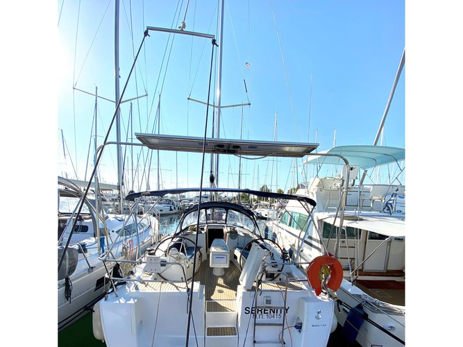 Experience Palairos on board this elegant sailboat