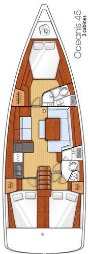 Boat for rent Bénéteau 45.0 feet in Marina Trogir - SCT, Croatia