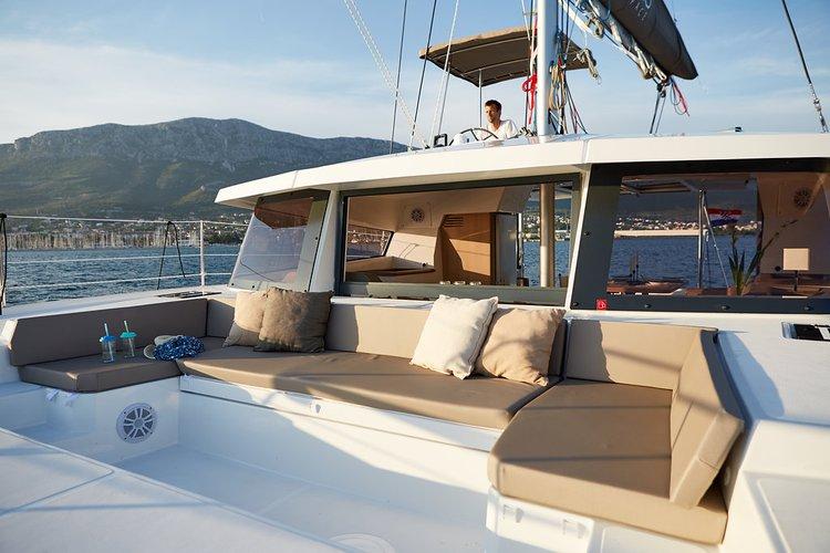 Catamaran boat rental in Marina Kastela, Croatia