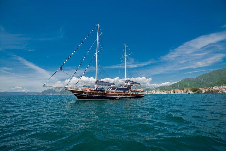 Gulet boat rental in Porto Montenegro Marina, Montenegro