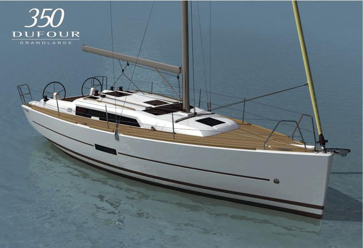 Experience Šibenik region, HR on board this amazing Dufour Yachts Dufour 350 GL