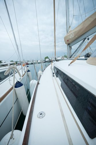 Discover Macedonia surroundings on this Dufour 410 GL Dufour Yachts boat